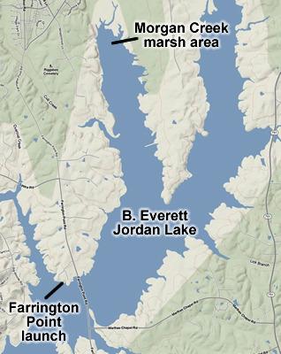 B Everett Jordan Lake Farrington Point To Morgan Creek April 1